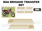 BSA Brigand Transfer Decal Set DBSA22 Gold